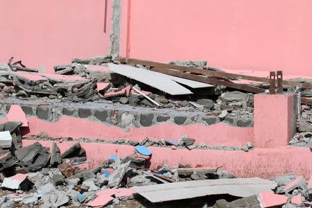 Building debris.