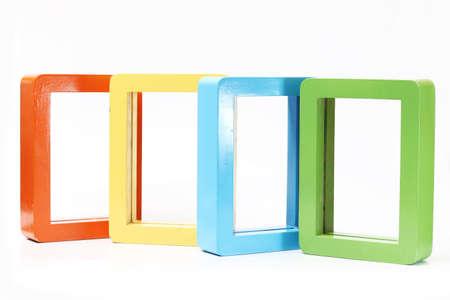 color white: Color del marco rectangular tel�n de fondo blanco. Foto de archivo