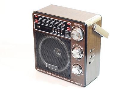 Radio on the white background Stock Photo