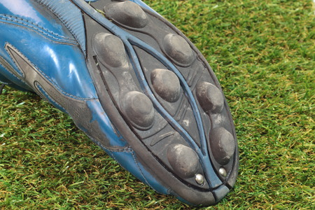football boots: Football boots on the grass