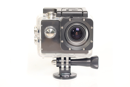 Camera Action Cam on a white background.