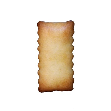 illustrate i: Bread sample letter i on white background.