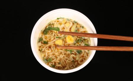 comida japonesa: Fideos instant?neos Foto de archivo