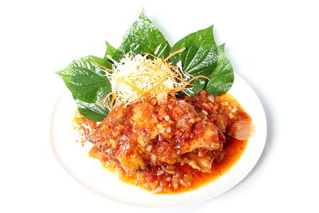 chili's restaurant: Fish with Chili Sauce.