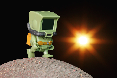 planetoid: Robotic exploration on the planet Stock Photo