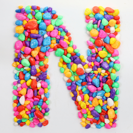 literally: Colored stones arranged in a letter N.