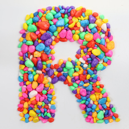 literally: Colored stones arranged in a letter R.
