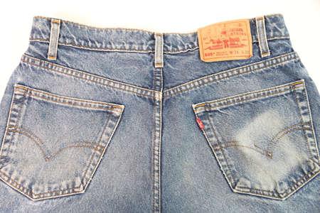 levis: Chiangmai, Thailand -December 22, 2015: jeans Levis old pants-Levis is a brand name , Chiangmai, Thailand.
