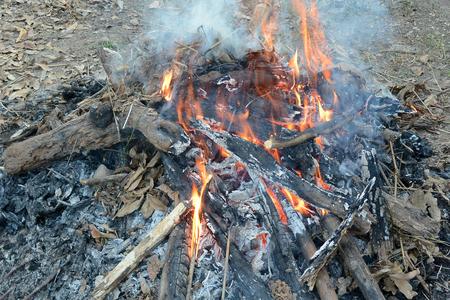 pyre: Bonfire. Fire Background Stock Photo