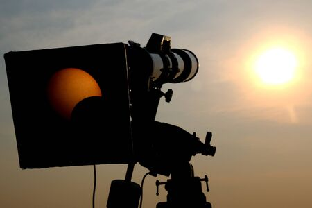 Camera view solar eclipse