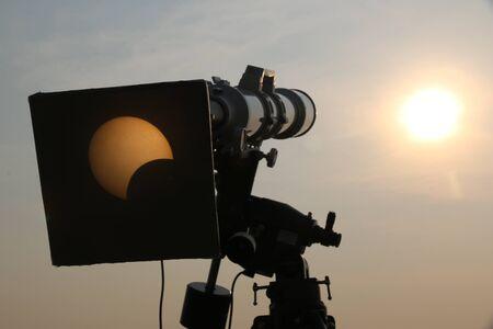 solar eclipse: Camera view solar eclipse