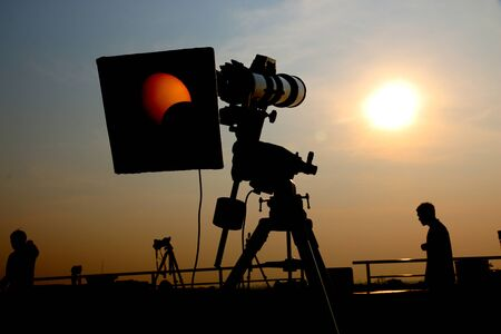 vista Camera eclissi solare Archivio Fotografico