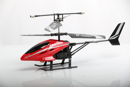 rc: RC helicopter on a white background. Stock Photo