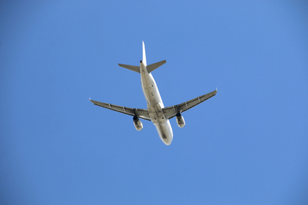 Airplane background sky