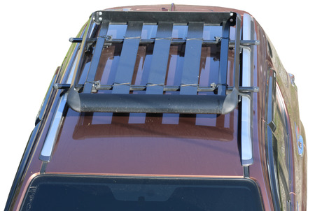 Roof rack isolated on white,with clipping path. Stock Photo