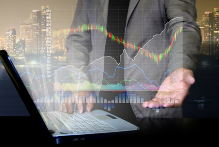 Businessman in stock trading concept Stock fotó
