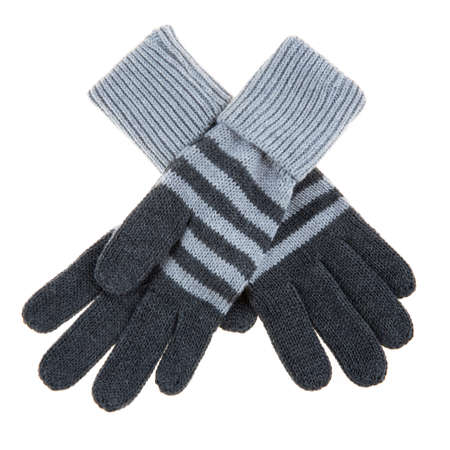 woolen: Woolen gloves on a white background
