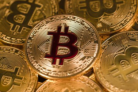 Bitcoin Gold Coin. Cryptocurrency.