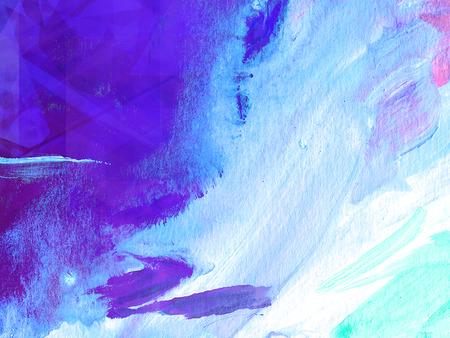 Abstrakt Acryl Malerei Unterwasser Hintergrund Standard-Bild - 74174444