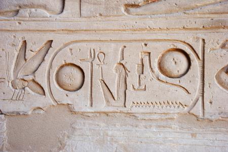 cartouche: Egyptian hieroglyphs