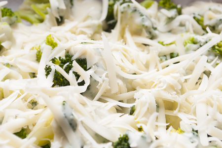 broccoli with grated cheese