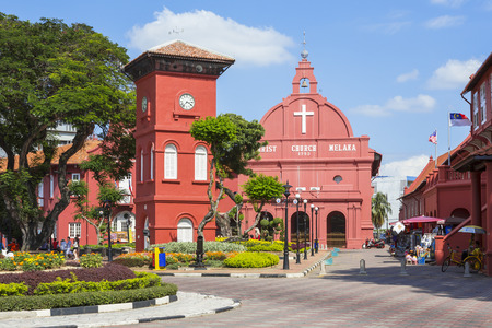 the christ: Christ Church in Malacca. Malaysia
