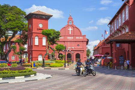 church tower: Christ Church in Malacca. Malaysia