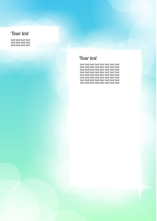 Modern, clean, Design template - fully editable Vector
