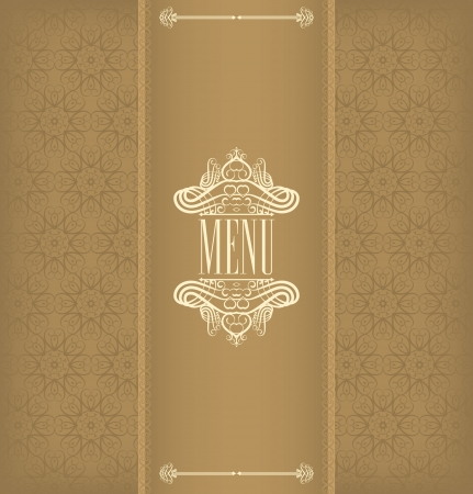 Stained decorative menu beige Vector