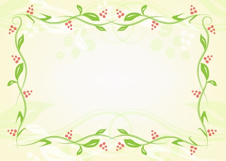 bordering: Floral green frame from plants