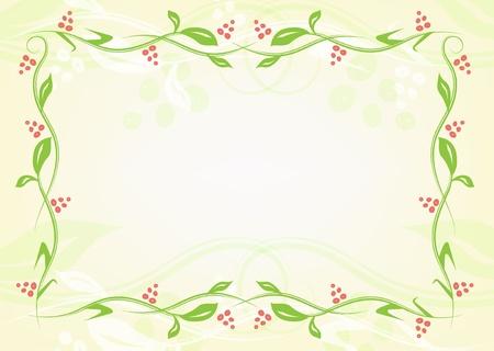 bordering: Marco floral verde de las plantas