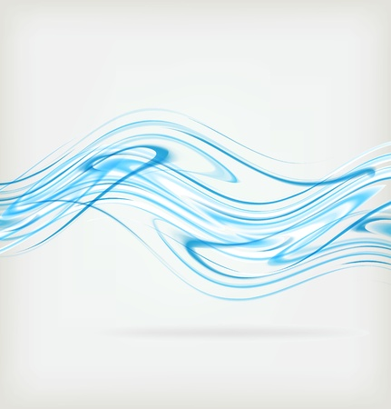 breeze: Abstract blue wave background