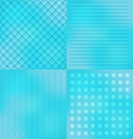 Four abstract blue background of the figures Vector