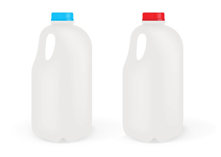 牛乳瓶  イラスト・ベクター素材