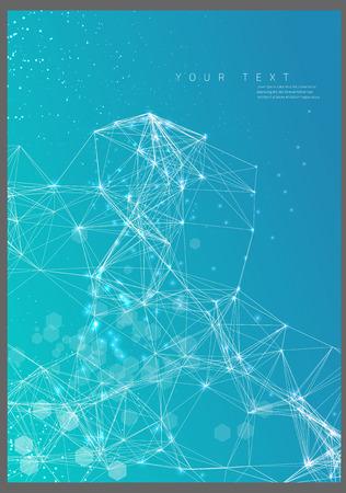 抽象的なポスター技術ネットワーク  イラスト・ベクター素材