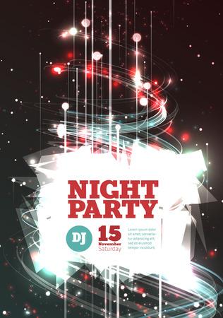party dj: Night party Vector