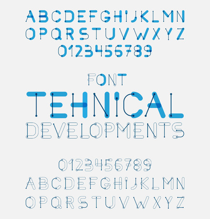 Vector alphabet letters design. Illustration