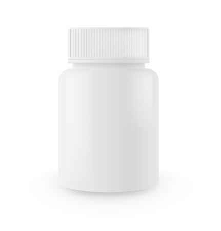 Blank medicine bottle Vectores