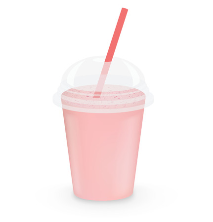 take away: Strawberry milkshake