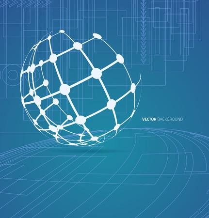 Techno globe background Vector