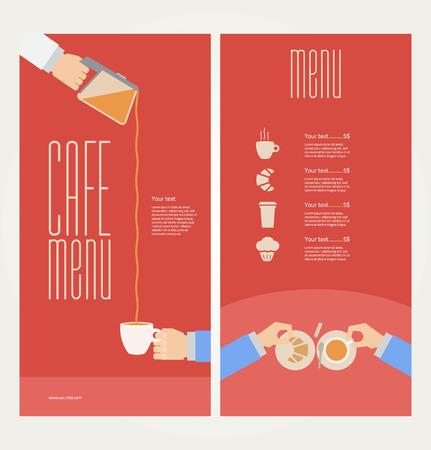 modern colorful menu Vector