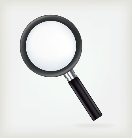 blue glass: Realistic vector magnifying glass Illustration