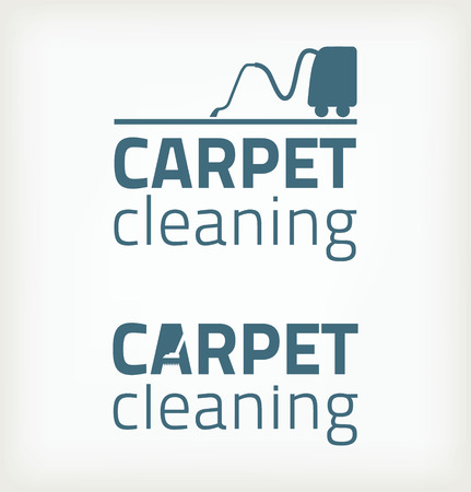 carpet cleaning service: Eco icons Illustration