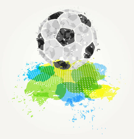 soccer fan: Abstract colorful ball Illustration