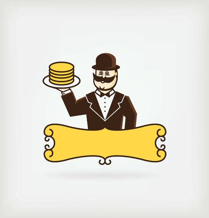 mr: Mr. pancake Illustration