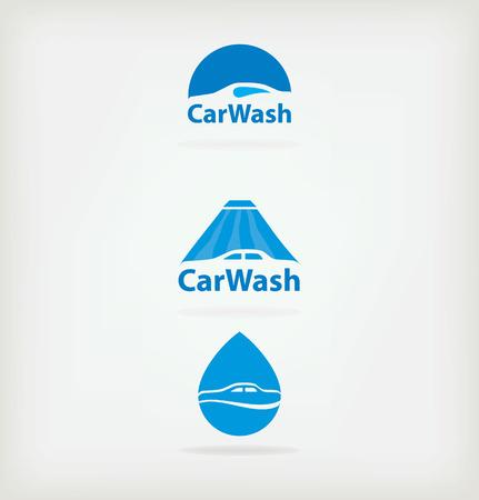 car shop: Logo car wash