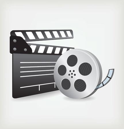 film slate: Film Slate with Movie Film