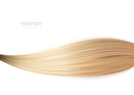 ragazze bionde: Lunghi capelli biondi come il disegno sfondo .illustration Vettoriali