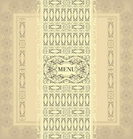 Vintage design menu Vector