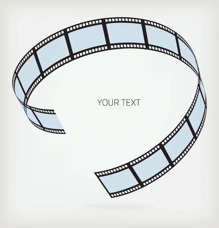 3d film: Film strip Illustration